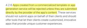 Texto cambiado política Apple